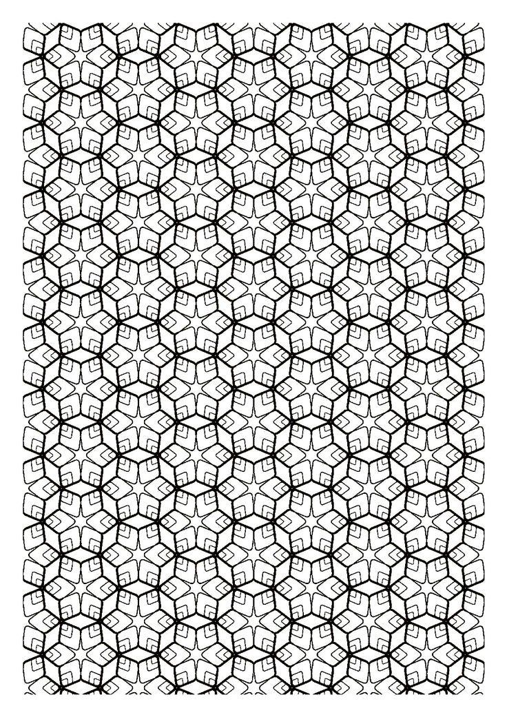 87 best Color Geometric Designs images on Pinterest | Coloring books ...