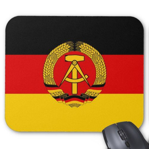 East German Flag Mouse Pad