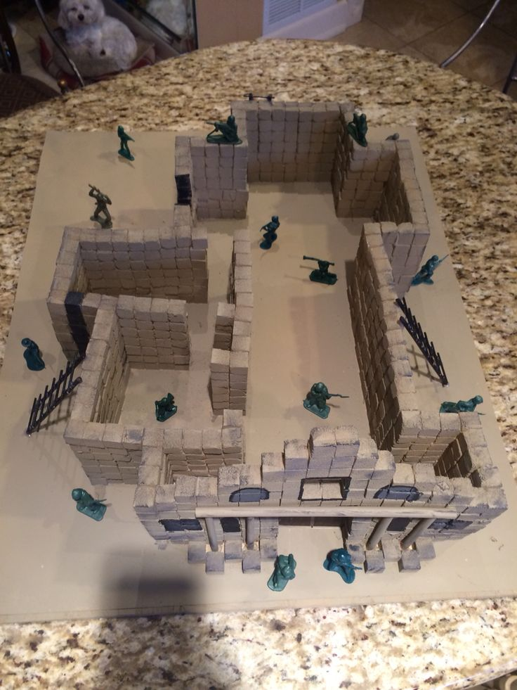 Alamo project made out of sugar cubes. | Mission projects