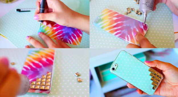 Changeable studded phone case