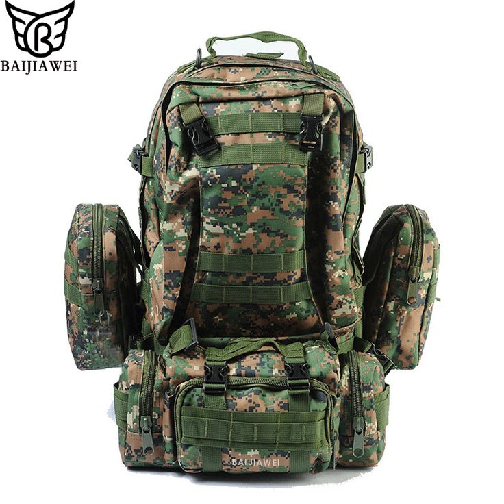 BAIJIAWEI Combined Bags 60 Liters Large Capacity Multifunction Men's Travel Bag Backpack Set Trekking Rucksacks Men Backpack