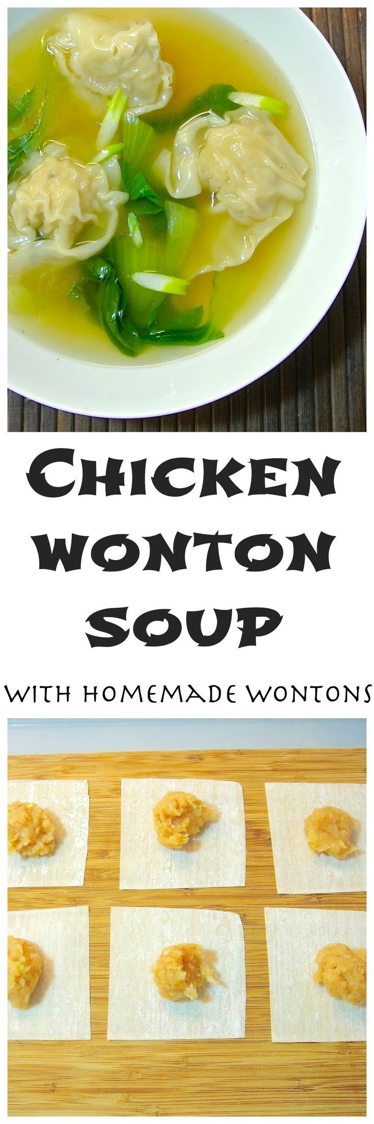 This is a quick, delicious, complete meal that can be ready in minutes (once all your dumplings are made) and is healthy too. Napa cabbage is traditional in wonton soup, but I like to use bok choy because it gets greener when it cooks which makes this soup very eye-catching and bright. (scheduled via http://www.tailwindapp.com?utm_source=pinterest&utm_medium=twpin&utm_content=post17503624&utm_campaign=scheduler_attribution)