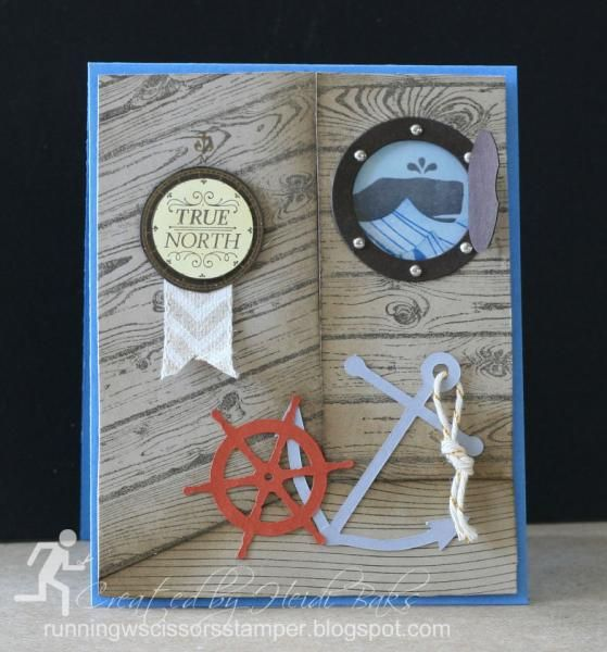 Stampin' Up Hello Sailor I like the way it looks 3D!