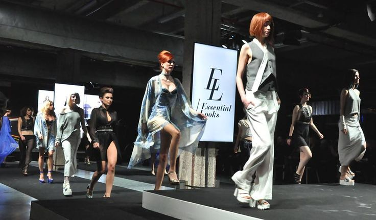 "Photo l' L'Eclaireur, l'hebdo des coiffeurs Hairdressing Awards France show ESSENTIAL LOOKS ""Modern Style Collection"" SS 2015 Schwarzkopf Professional - HDA les 10 ans - Cité de la Mode et du Design Paris - DA Sylver Boll Hair Antunes Celine and team 52ème AVENUE Stylist Designer Laura de Villebonne assisted by Liliana Males Make-up Stephane Dussart Choregraph Cindy Gaillot Models Cécile, Johanna Moreau, Lucie Morais, No Nonoo, Delphine Mari, Hélène, Lydia, Sophie"