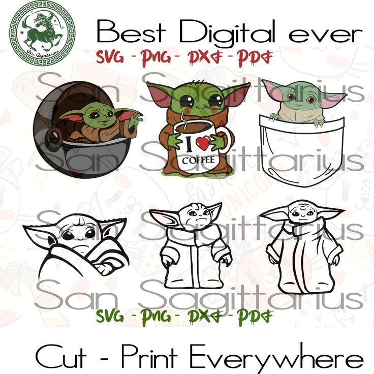 Baby Yoda Star Wars SVG Files For Silhouette Cricut Files