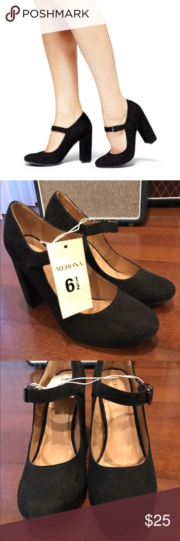 ✨✨ NWT • Women's Mary Jane Heels NWT • Women's Mary Jane Chubky Heels in black suede. Timeless classic! Goes great with anything. I got these as a gift but already have a pair just like it. I wear mine out all the time! Shoes Heels