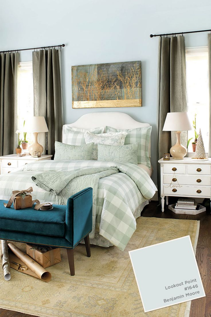 Mom's bedroom.  Paint color from the Ballard Designs catalog