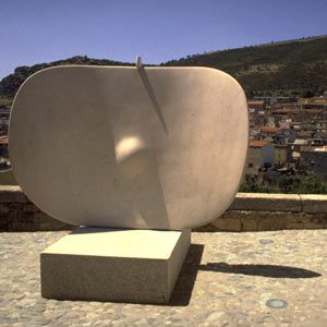 Constantino Nivola Sculpture at Nivola Museum in Italy