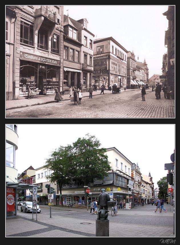 Kaiserslautern einst und heute - Café Käfer Marktstraße