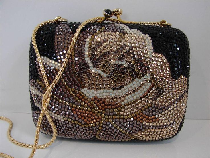 Judith Leiber Silk And Gold Embroidery Evening Bag yvMcfCFZH