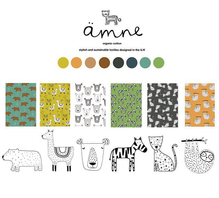 Check out my fabric collection for my new venture with @amnefabric - 6 lovely unisex fabric designs which we will be selling soon by the metre! #fabric #textiles #childrensdesign