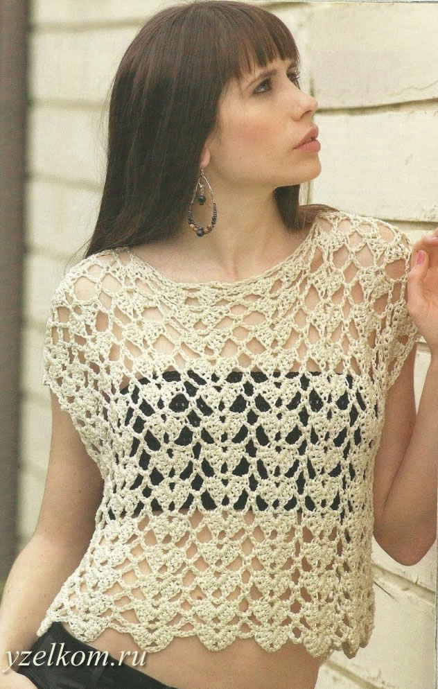 Top crocheted