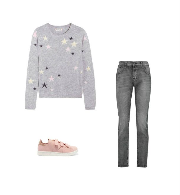 Casual Monday: Chinti And Parker sweater, 7 For All Mankind jenas, adidas originals sneakers