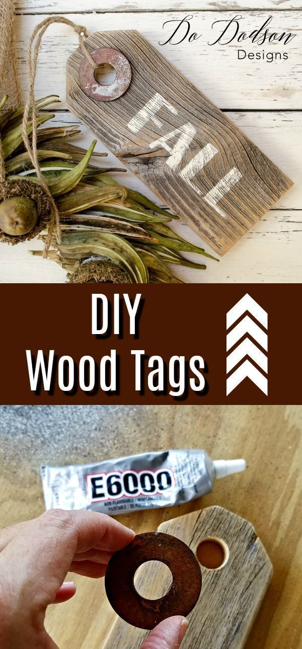 Easy DIY Wooden Tags #woodentags #woodworking #rusty