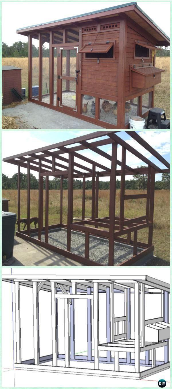 DIY The Palace Chicken Coop Free Plan & Instructions - DIY Wood Chicken Coop Free Plans More on good ideas and DIY mehr zum Selbermachen auf Interessante-dinge.de #DIYchickencoopplans #ChickenCoopPlans