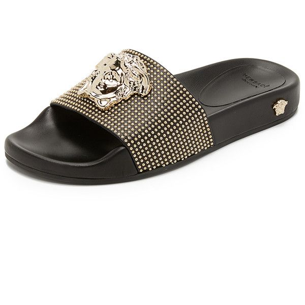 Versace Medusa Slides 880 Liked On Polyvore Featuring