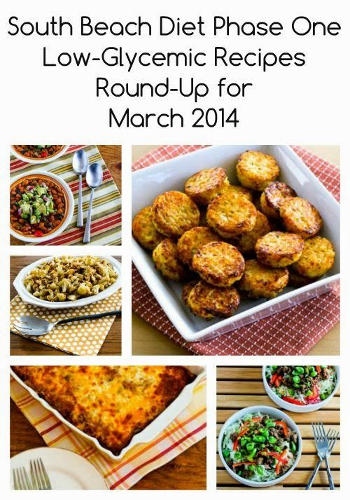 South Beach Diet Phase One Low-Glycemic Recipes Round-Up for March 2014  [from Kalyn's Kitchen]