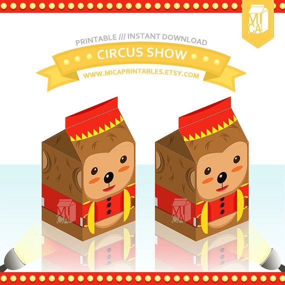 Monkey Circus Printable Party Favor Treat by MicaPrintables