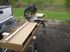 Portable mitre saw/chop saw bench. DIY Miter Saw Bench Build a Miter Saw Table | GNH Lumber DIY