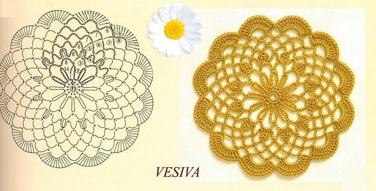 Mejores 764 im genes de esquemas de crochet e tricot en - Esquema punto estrella crochet ...