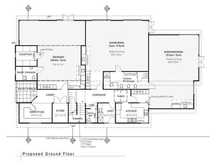 daycare floor plans  Floorplan at the Playroom Daycare and Preschool ...