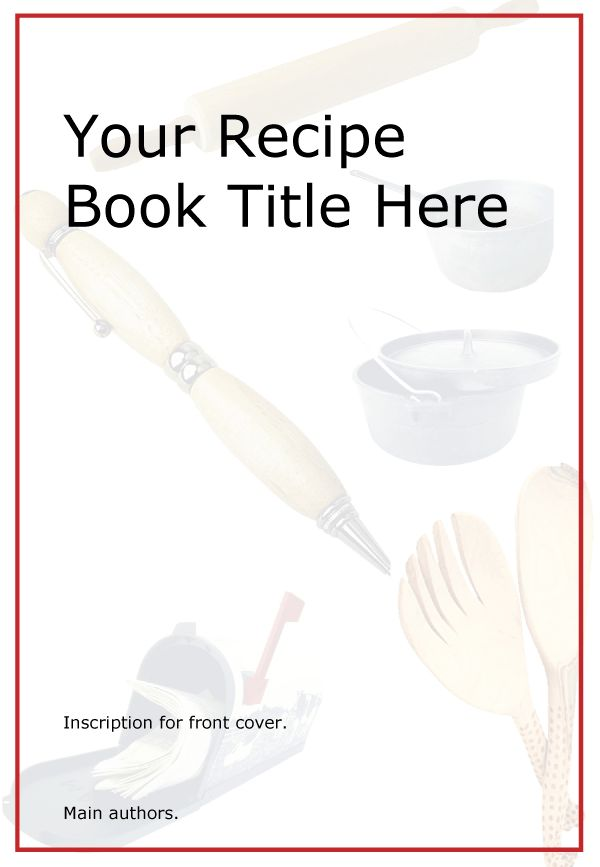 Cookbook Covers Printable Free : Free printable kids cookbook this template is available