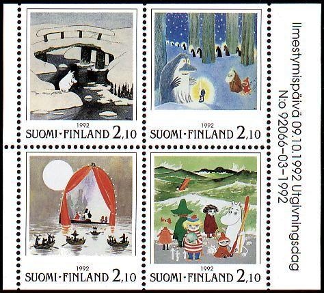 Finnish Moomin stamps <3