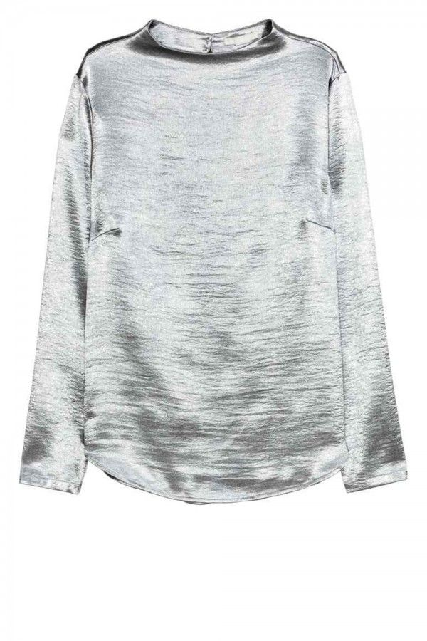 H&M Metallic Blouse, £19.99