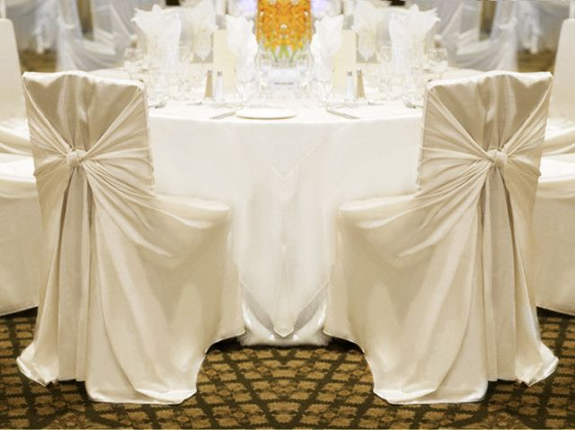 Brand New Ivory Universal Chair Covers For Sale | Weddingbee Classifieds