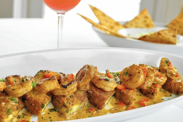 Recipes requested for Spicy shrimp and eggplant at Brio Tuscan Grille and black beans at Pollo Tropical.