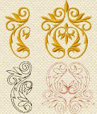 Machine Embroidery Design decorative ornament
