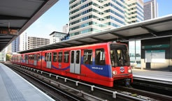 The Docklands Light Railway is a bit like a fairground ride. Much of it runs on elevated tracks and as there are no drivers you may be lucky and get a seat right at the front. DLR | Transport for London
