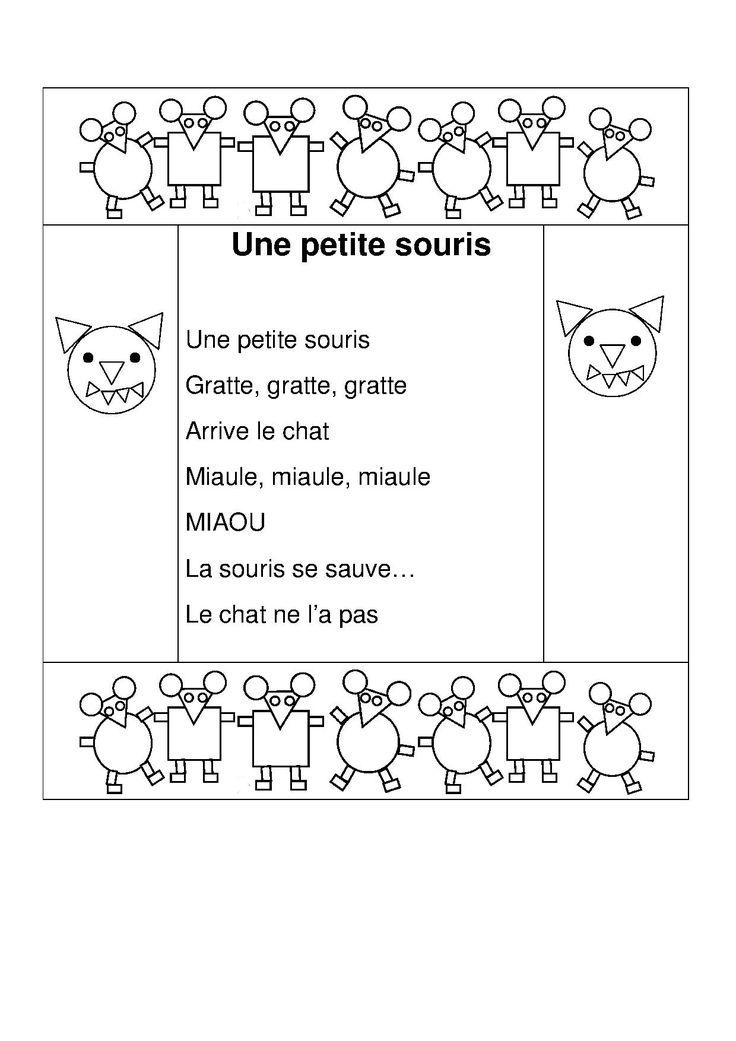 Une petite souris comptines dessins anim s po sie pinterest poem - L histoire de la souris ...