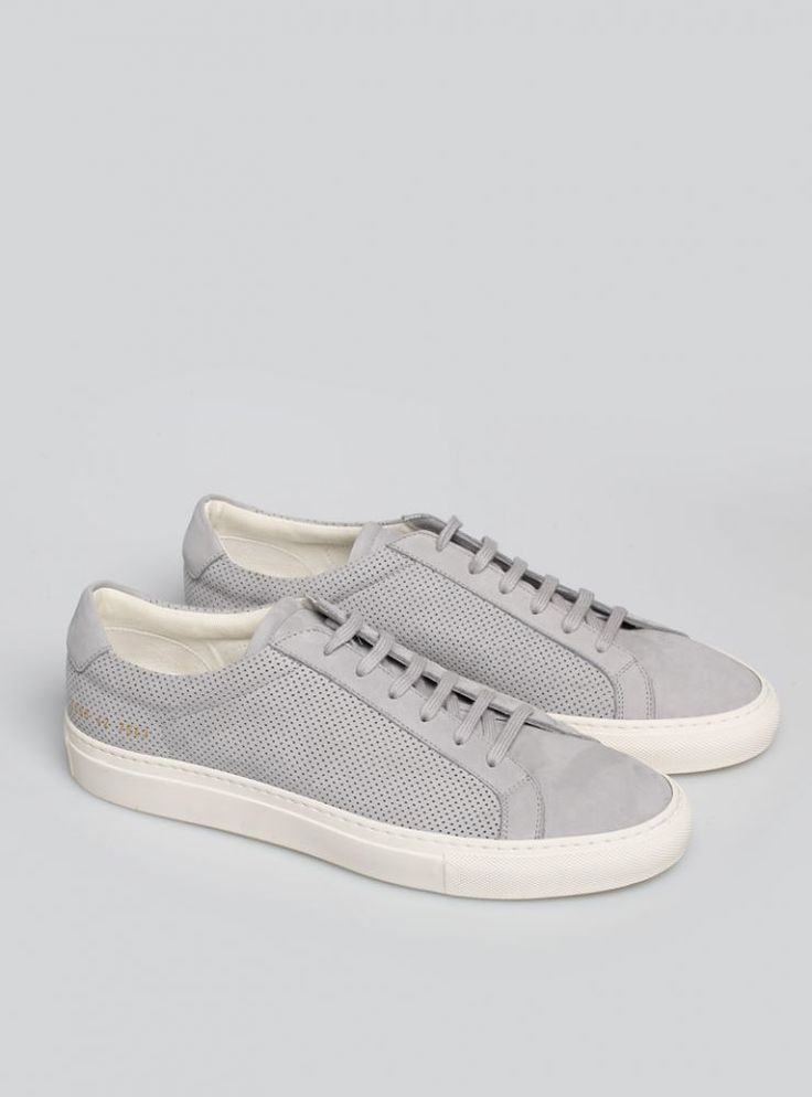 Common Projects Grey Summer Edition Achilles Low Sneakers