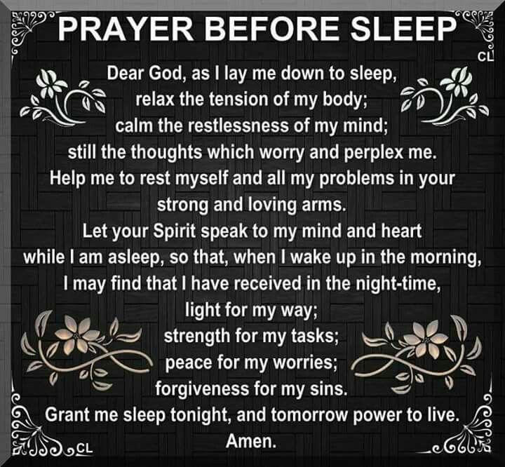 Prayer Before I Sleep