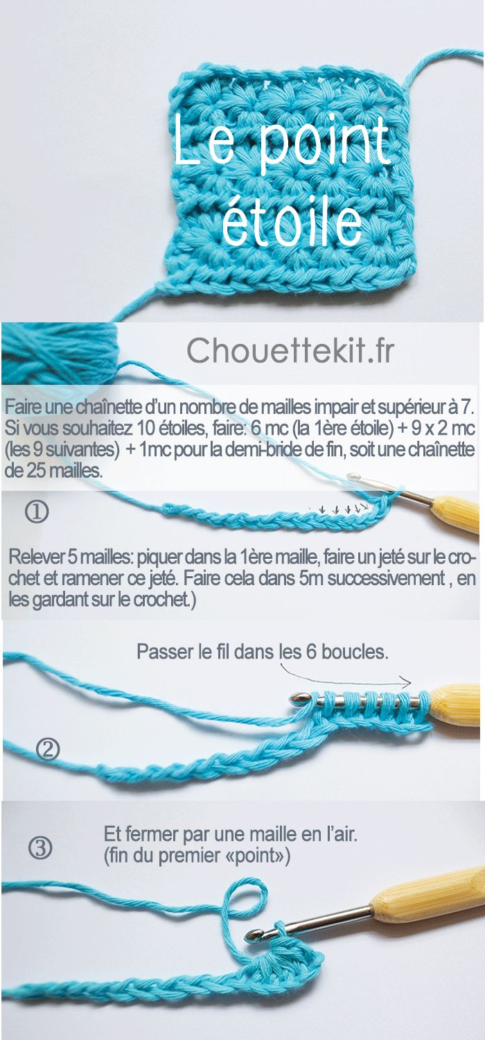tuto images + video du point étaoile par chouette kit