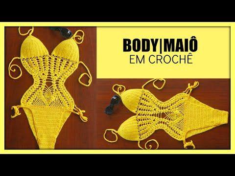 Professora Simone - Maiô Body de Crochê ( Crochê Praia )- Tamanho-M - YouTube