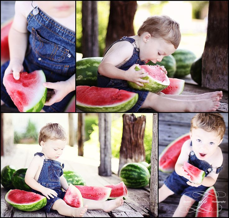 Watermelon Mini Session Ideas  Original by:  DRABEK PHOTOGRAPHY: Watermelon Session ~ Family and Child Custom Portrait Photographer ~ McKinney, TX