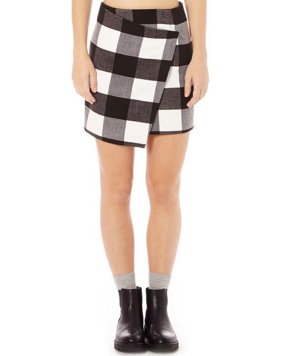 Check Astmmetrical Skirt