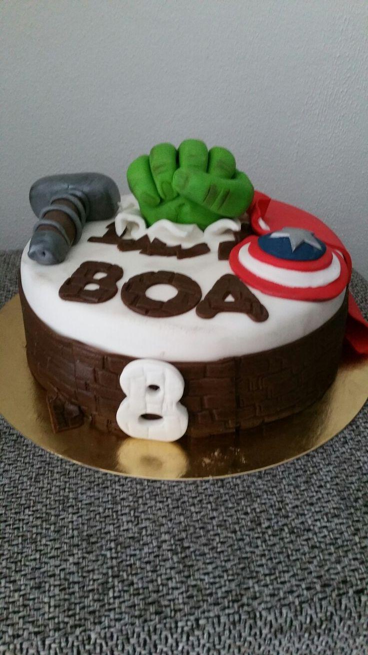 Super hero taart