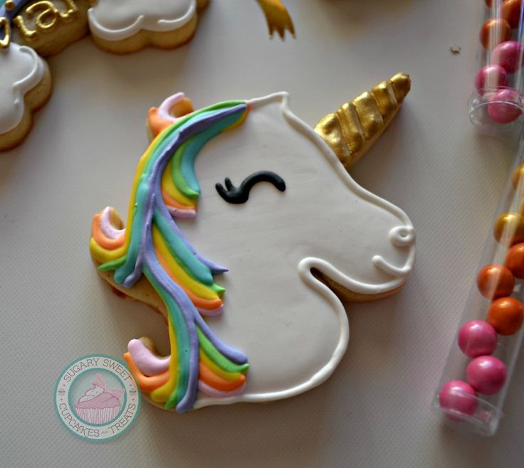 Image of Unicorn Birthday! (12 cookies)