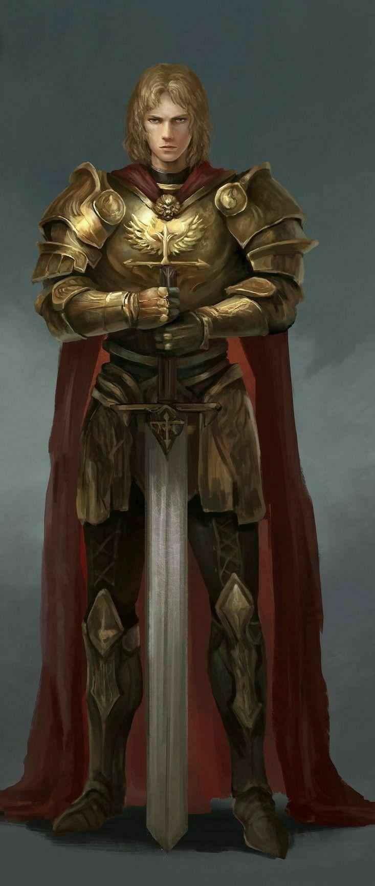 Humano - Paladino | Fantasy armor, Paladin armor, Paladin