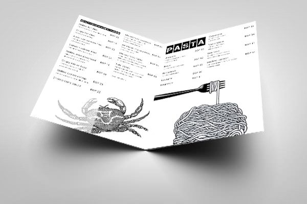 Menu, graphic design