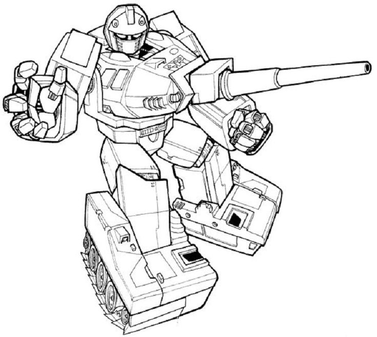 Transformers Coloring Pages Warpath   Coloriage