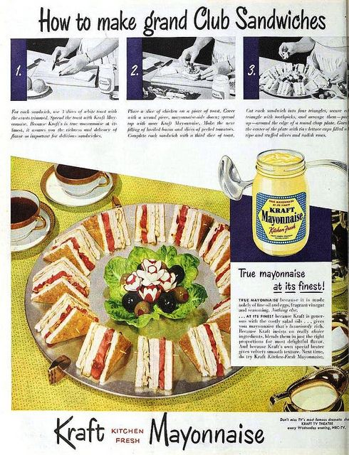 How to make grand Club Sandwiches with Kraft Mayonnaise, May 1951