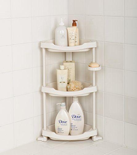 Corner Shower Caddy 3 Shelf Organizer Caddie Shelves Standing Storage  Bathroom #TenbyLiving