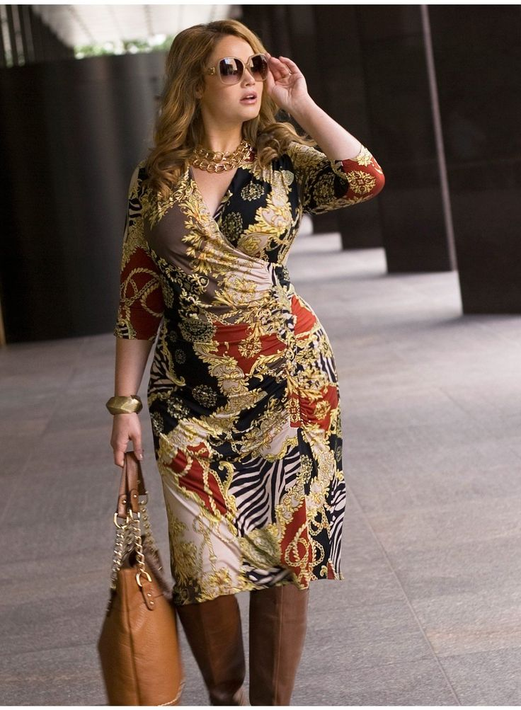 Wrap dresses always work for curvy girls; plus love the colors