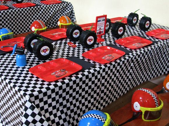 Plate Color, Napkin Color And Checkered Table Cloth | Race Car Bday Party |  Pinterest | Race Car Party, Birthdays And Hot Wheels Party