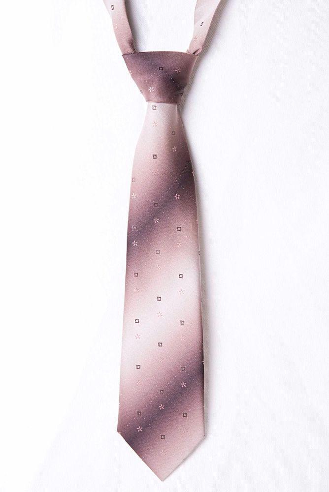 Vintage High Grade Brown Geometric / Floral Mens Tie - Made in UK