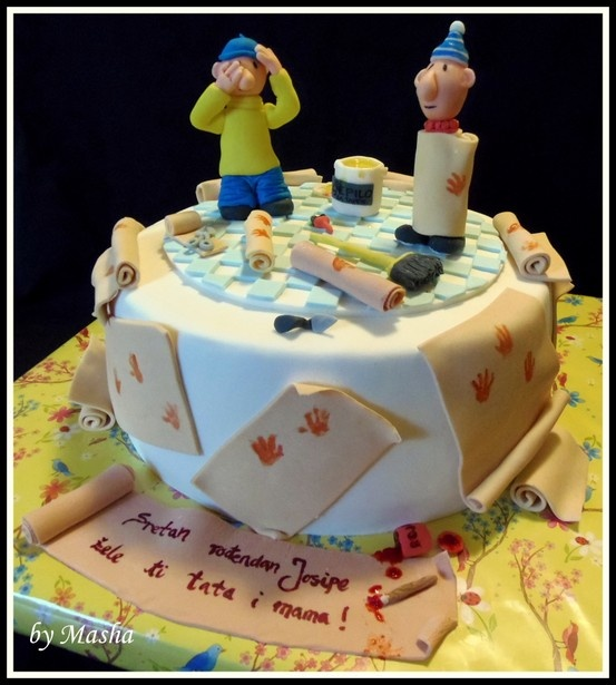 Pat and Mat cake, a je to :)